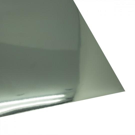 Картон глянцевый металлик хром, 250 г/м 350х500 мм