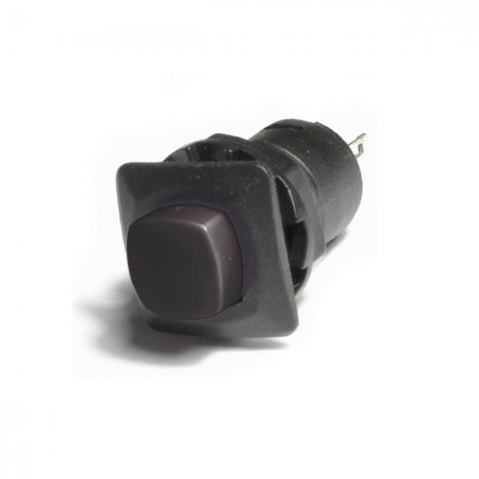 Кнопка черная пластиковая с фиксацией