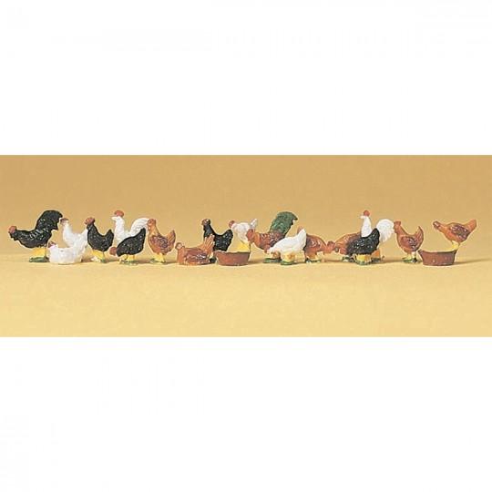 Модели куриц Preiser 14168