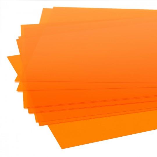 Пластик оранжевый А4 SCHULCZ