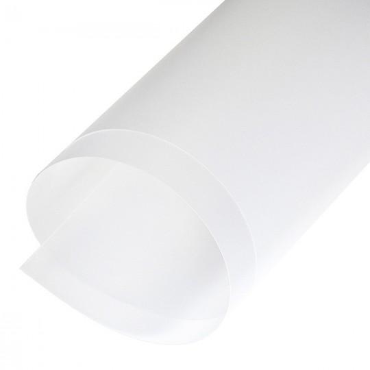 Пластик полипропилен матовый/матовый 0,4х700х1000мм прозрачный